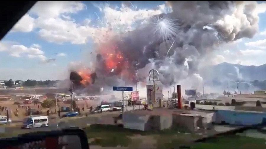 Photo of میکسیکومیں آتشبازی کےسامان کی مارکیٹ میں دھماکے،27افرادہلاک