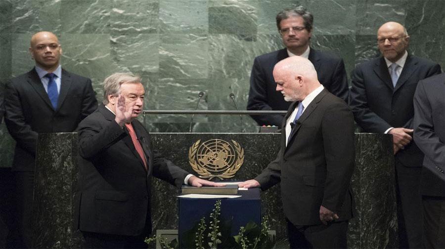 Photo of اقوام متحدہ کے نئے سیکرٹری جنرل نے حلف اُٹھا لیا