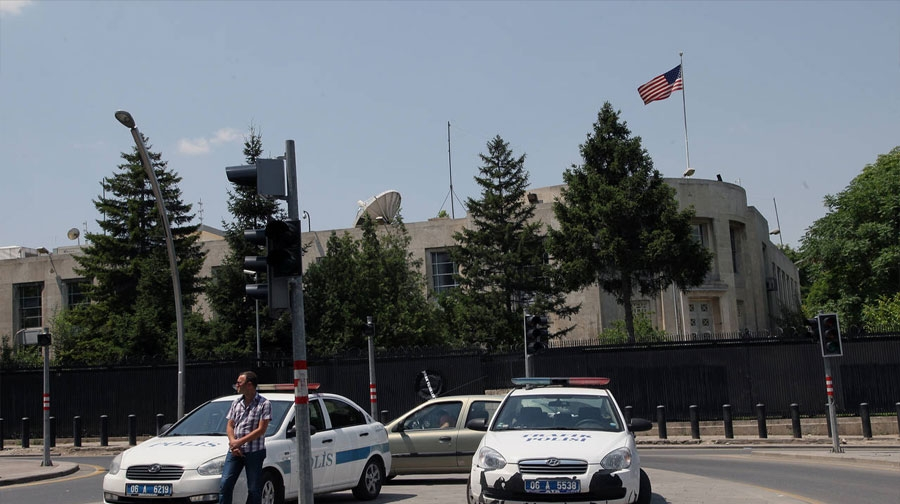 Photo of ترکی کے دارالحکومت میں امریکی سفارت خانے کے باہر فائرنگ