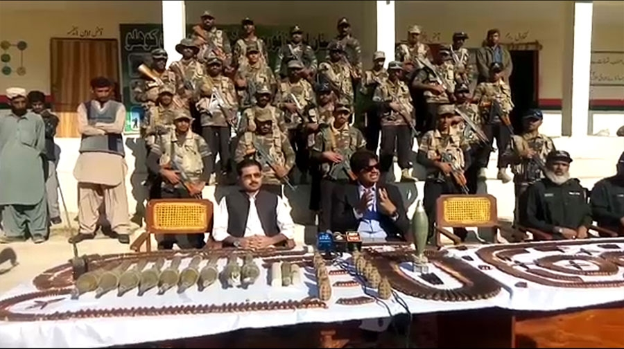 Photo of بلوچستان کے ضلع کوہلو میں لیویزکی کارروائی، اسلحے کی بڑی کھیپ پکڑی گئی