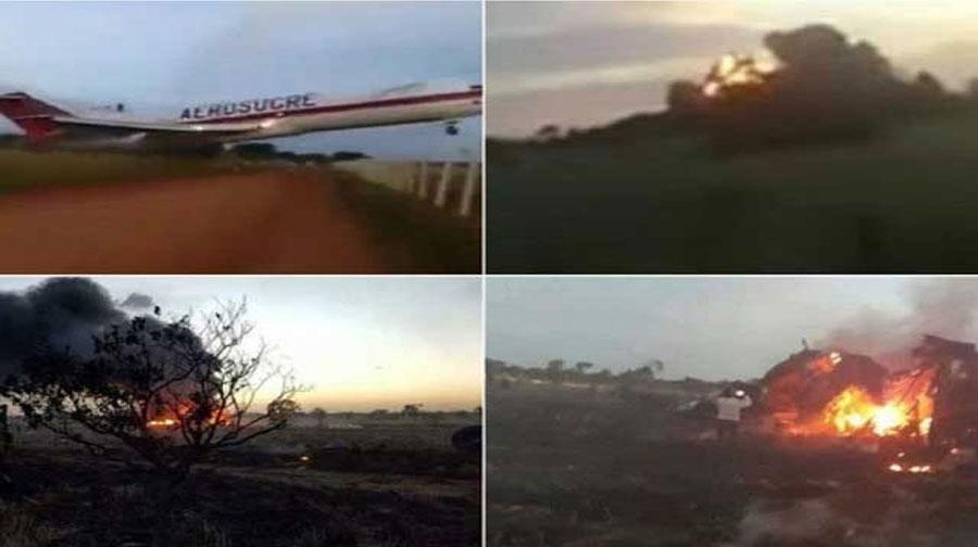 Photo of کولمبیا میں کارگو طیارہ اڑان بھرتے ہی تباہ، 5 افراد ہلاک
