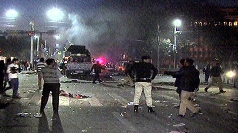 Photo of لاہور کے مال روڈ پر دھماکا، متعدد افراد زخمی