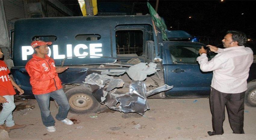 Photo of نیو کراچی میں پولیس موبائل پر بم حملہ، ایم کیو ایم لندن کے 3 کارندے گرفتار