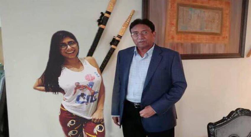 Photo of انٹرنیٹ پر تہلکہ برپا کرنے والی پرویز مشرف کی فحش اداکارہ میا خلیفہ کے ساتھ تصویر کی حقیقت سامنے آگئی