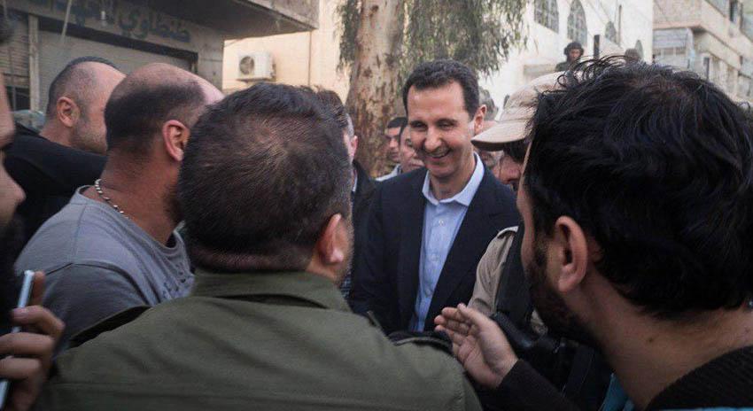 Photo of شامی صدر بشار اسد نے مشرقی غوطہ کے محاذ کا دورہ کیا
