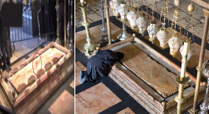 Photo of وہ جگہ جسے عیسائی حضرت عیسیٰ علیہ السلام کا مقبرہ کہتے ہیں، وہاں اچانک زمین سے کیا چیز نکلنا شروع ہوگئی؟ کھلبلی مچ گئی