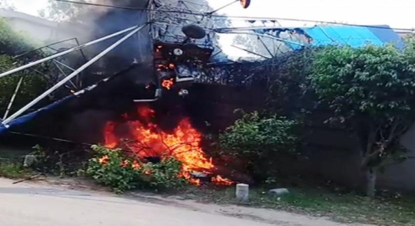 Photo of سیسنا تربیتی طیارہ گارڈن ٹاؤن کے علاقے میں گر کر تباہ