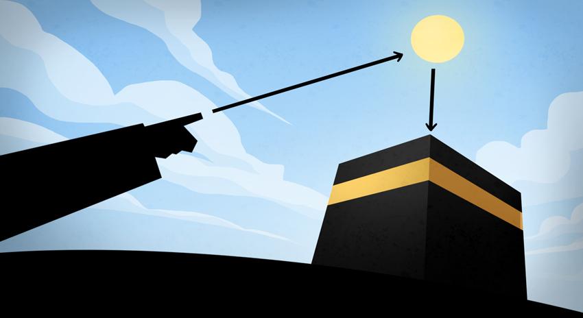 Photo of سورج 28 مئی کو پاکستانی وقت دوپہر 2 بج کے 18 منٹ پر خانہ کعبہ کے عین اوپر ہوگا