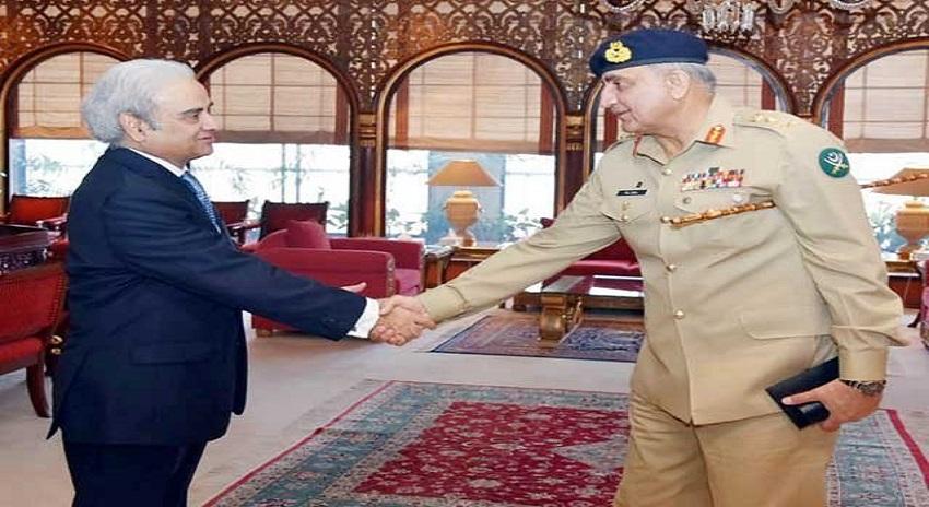 Photo of سربراہ پاک فوج جنرل قمر جاوید باجوہ کی نگراں وزیر اعظم ناصر الملک سے ملاقات