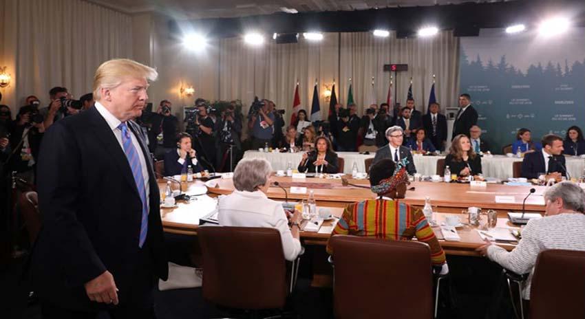 Photo of روس کی رکنیت بحال کرنے اور ٹریڈ ٹیرف کے معاملے پر اختلافات، جی سیون اجلاس کے بعد امریکہ تنہائی کا شکار