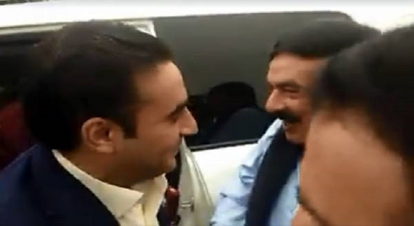 Photo of بلاول بھٹو قومی اسمبلی کے باہر پہنچے تو گاڑی سے نکلتے ہی شیخ رشید سے سامنا ہو گیا، دونوں نے ایک دوسرے کو دیکھتے ہی کیا کام کیا؟ ویڈیو نے انٹرنیٹ پر ہنگامہ برپا کر دیا