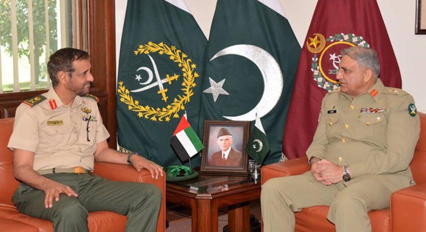 Photo of آرمی چیف جنرل قمر باجوہ سے یو اے ای کی بری فوج کے کمانڈر کی ملاقات
