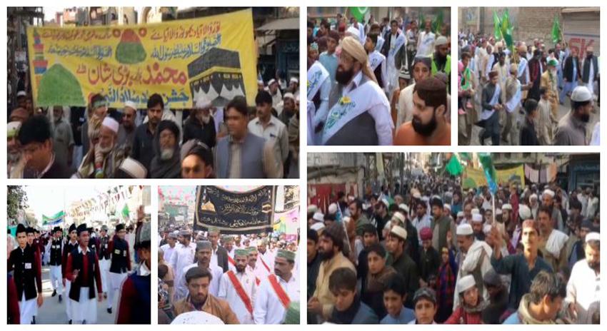Photo of ملک کے مختلف شہروں میں میلاد النبی ﷺ کے جلوس مقررہ راستوں پر رواں دواں