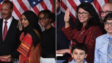 Photo of امریکا کی 2 مسلم خواتین ارکان کانگریس نے قرآن پر ہاتھ رکھ کر حلف اٹھالیا