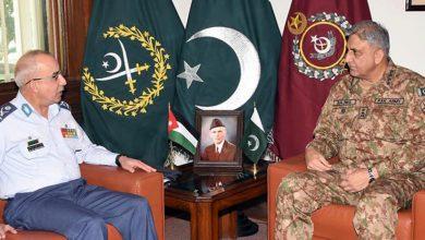 Photo of آرمی چیف جنرل قمر جاوید باجوہ سے اردن کے چیف آف اسٹاف کی ملاقات