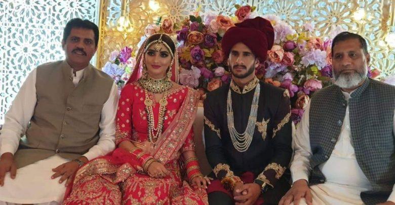 فاسٹ بولر حسن علی بھارتی دوشیزہ کے ساتھ شادی کے بندھن میں بندھ گئے