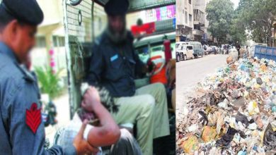 Photo of کچرا پھینکنے پر ایک شخص گرفتار