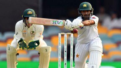 Photo of برسبین ٹیسٹ: پاکستان کی پوری ٹیم 240 رنز پر آؤٹ