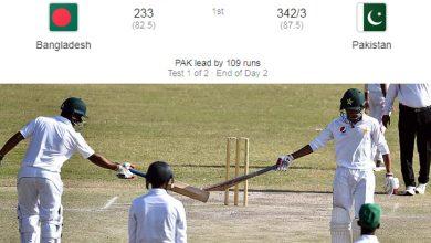 Photo of پنڈی ٹیسٹ : پاکستان کو بنگلادیش پر 109 رنز کی برتری