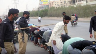 Photo of لاک ڈاؤن کی خلاف ورزی پر سندھ میں گرفتاریاں