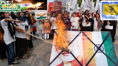Photo of امریکا میں بھارتی ترنگے کو آگ لگا دی