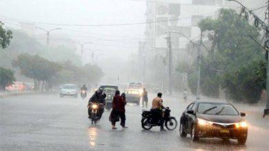Photo of شدیدگرمی اورحبس کےبعدشہرکےمختلف علاقوں میں بارش