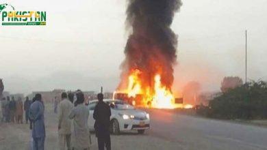 Photo of سپر ہائی وے پر مسافر وین میں آتشزدگی