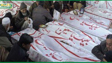 Photo of شیعہ ہزارہ برادری کا دھرنا ختم کرنے اور میتوں کی تدفین کا اعلان