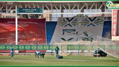 Photo of نیشنل اسٹیدیم کراچی پی ایس ایل سیزن 6 کے رنگ میں رنگ گیا