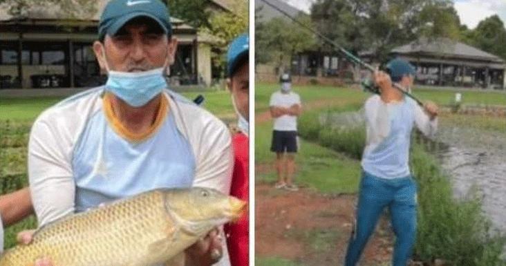 بیٹنگ کوچ یونس خان دورہ جنوبی افریقہ کے دوران سکواڈ کو مچھلیاں پکڑنے کاسبق دیتے رہے