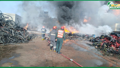 Photo of سندر انڈسٹریل اسٹیٹ کی کیمیکل فیکٹری میں آگ لگنے کا واقعہ
