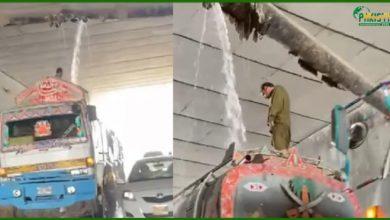 Photo of ٹینکر پانی کی لائن سے پانی بھر رہیں ،  ویڈیو وائرل