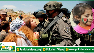 Photo of غاصب صیہونی فوجی فلسطینی پرچم سے خوف