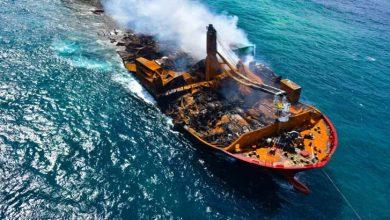 Photo of سری لنکا میں ڈوبنے والے کنٹینر جہاز کا بلیک باکس اتوار کے روز برآمد