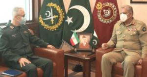 آرمی چیف کی ایرانی آرمی چیف سے ملاقات ،دفاعی صورتحال پر تبادلہ خیال